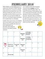 Infinity February 2016 Newsletter